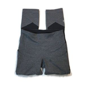 LULULEMON Pace Rival Crop -Heathered Black / Gray